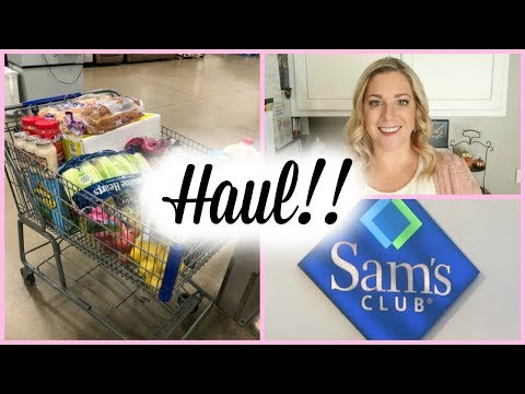 1st SAM'S CLUB HAUL / SHOP WITH ME!!