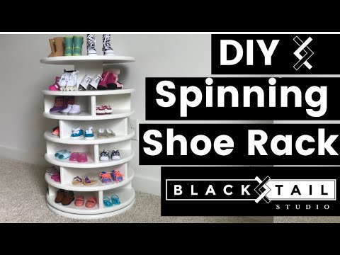 DIY Spinning Shoe Rack--DIY Projects