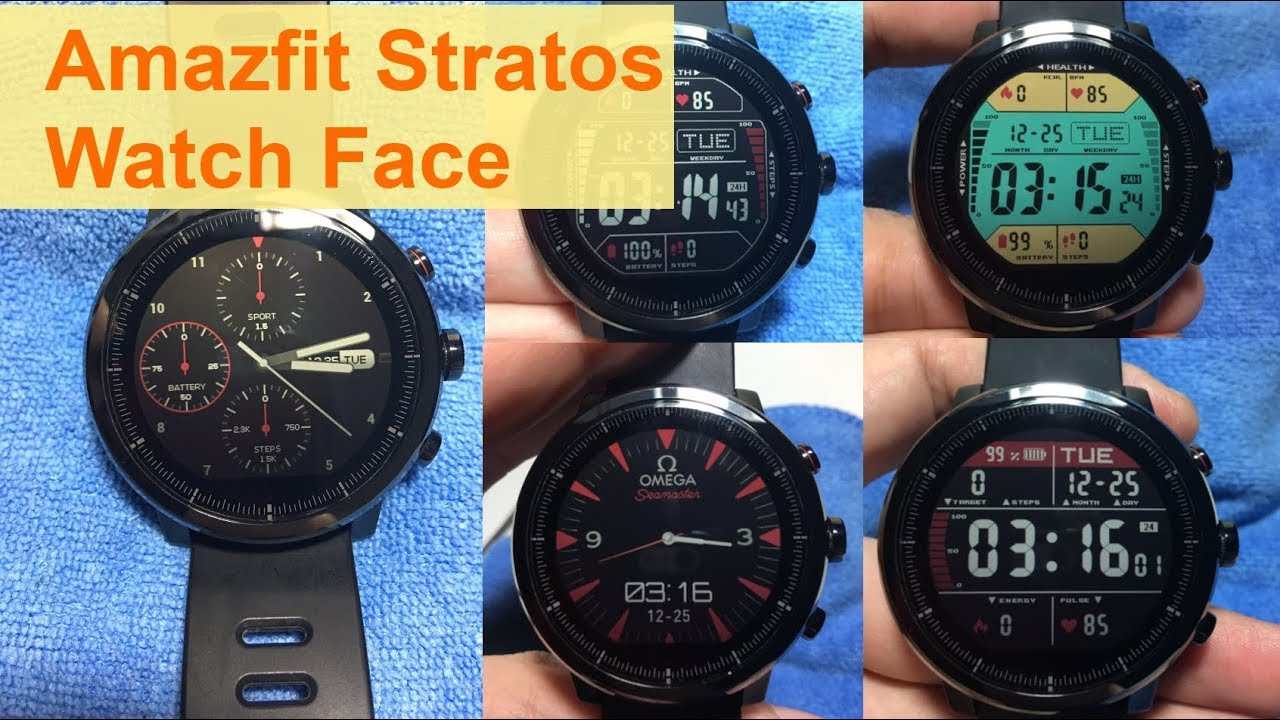Stratos 4 วิธีเปลี่ยน / ติดตั้ง Install Xiaomi Amazfit Stratos Watch Face  (ง่ายๆ ทำตามได้เลย)