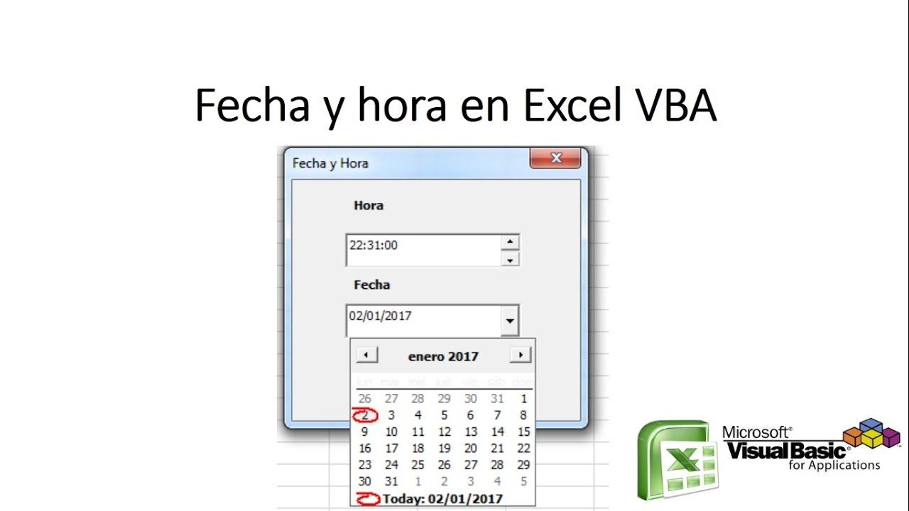 Calendario Con Excel.Calendario En Excel Vba Con Dtpicker