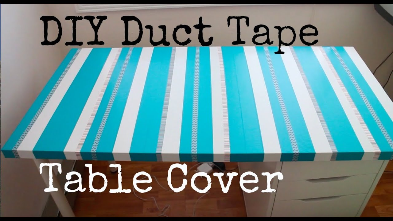DIY Duct Tape Table Cover: Recycle Your Old Table Top!   YouTube