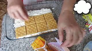 Закусочный рыбный торт с крекером