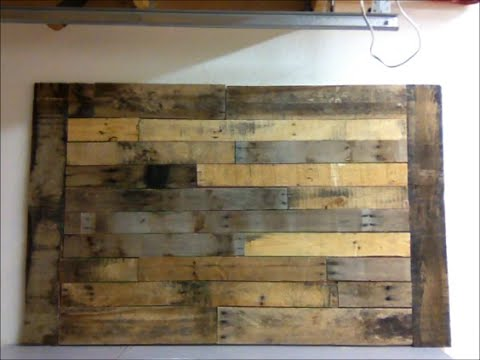 DIY : Pallet wood wall art frame decor shabby chic - YouTube