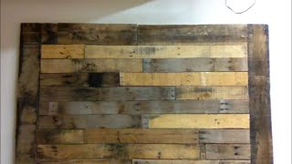 DIY :  Pallet wood wall art frame decor shabby chic