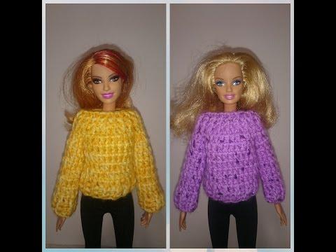 Как связать крючком одежду для куклы барби