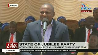 DP Ruto and allies attend a fund drive in Mwiki