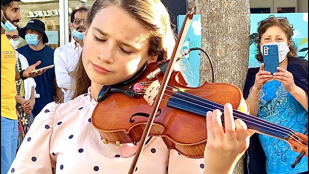 Arcade - Duncan Laurence | Amazing Street Performance | Violin Cover by Karolina Protsenko
