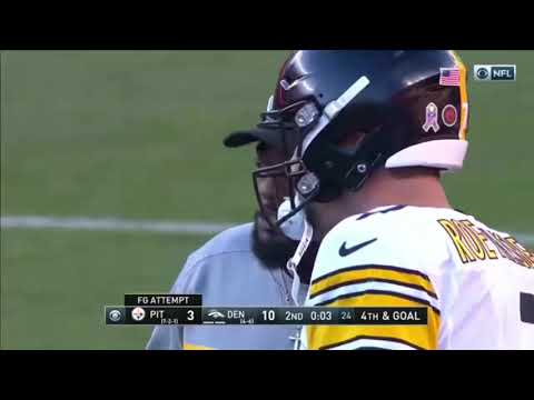 Chris Boswell touchdown pass to Alejandro Villanueva