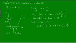 Função do 2º Grau - Coordenadas do Vértice - Exemplos - Função quadrática - Matemática