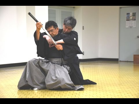 Kobudo (iai) demonstration in Kochi, Japan