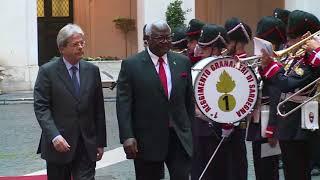 Gentiloni riceve il Presidente della Repubblica della Sierra Leone
