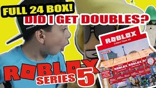 Unboxing 2019 ROBLOX Series 5 | Did I get Doubles?