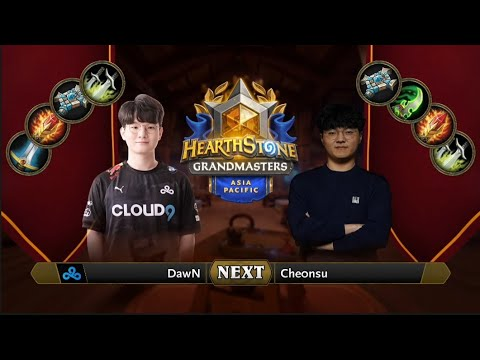 DawN vs che0nsu   2021 Hearthstone Grandmasters Asia-Pacific   Top 8   Season 1   Week 5