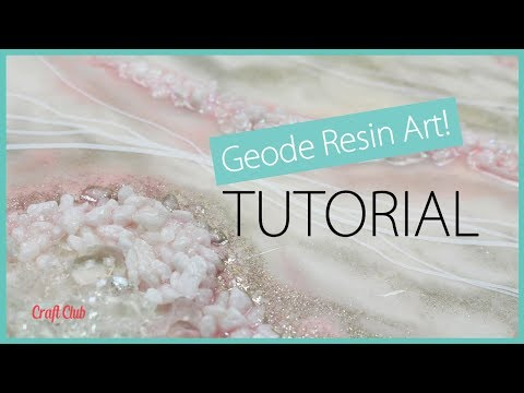 Geode Resin Art Tutorial | Epoxy Resin Crafts