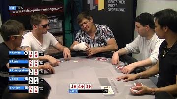 Live Poker Straight Flush Draw gegen . . . (Hannover 07.Juni 14)