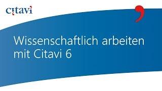 1/7 Erstellen Sie Ihr erstes Citavi 6 Projekt für Ihre wissenschaftliche Arbeit