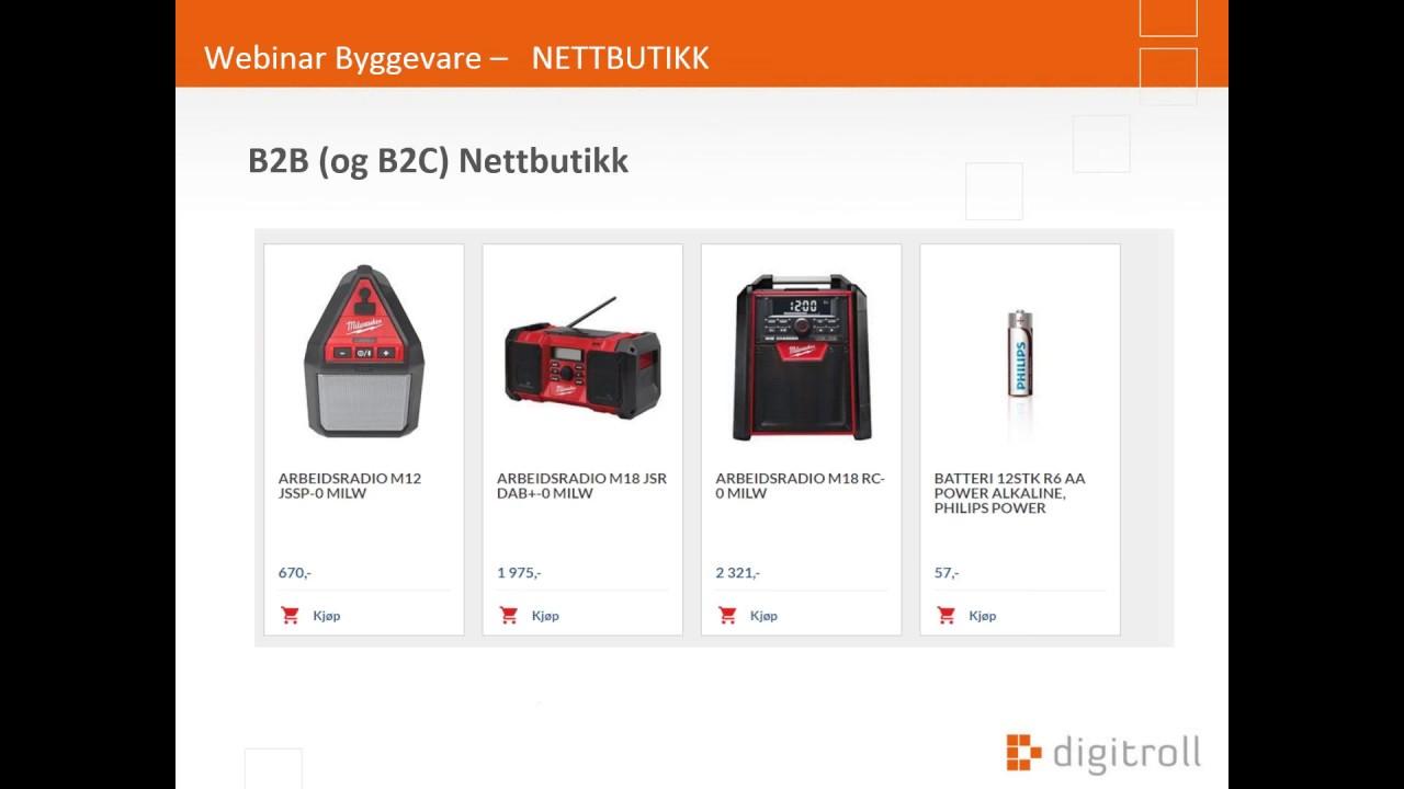 5d46a422 Nettbutikk byggevare med NOBB integrasjon - Digitroll AS