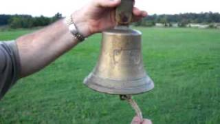 1939 WW2 German PS Graf Spee Ships Bell Ringing