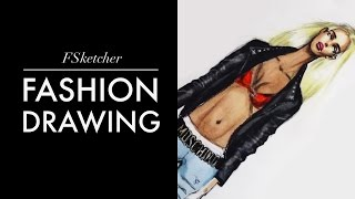 LEATHER MOTORBIKE JACKET | Fashion Drawing