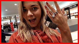 LOOKING AT ENGAGEMENT RINGS | Vlogmas Day 22