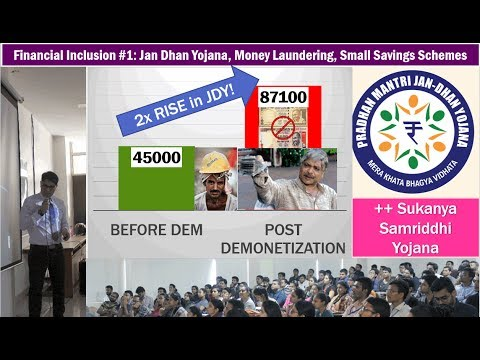 Fin.Inclusion #1: Jan-Dhan Money Laundering, Small Saving Schemes, Sukanya Samriddhi Yojana