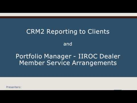 Webinar - CRM2 Reporting to Clients and Portfolio Manager