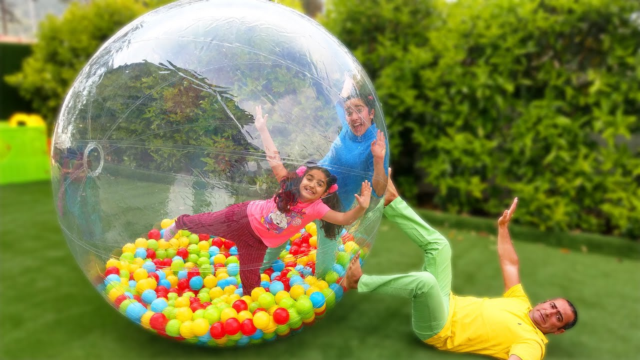 Download Esma and Asya with Playful Father