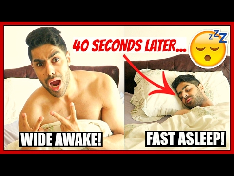 How To Go To Sleep In 40 SECONDS - LIFE HACKS YOU NEED TO KNOW!!