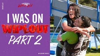REACTING TO MY EPISODE on WIPEOUT (PART 2)