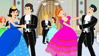 12 Dancing Princesses story cartoon | Princess Bedtime Stories for Kids
