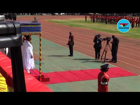Ghana@62: President of Niger Mahamadou Issoufou's arrival at the Aliu Mahama Stadium
