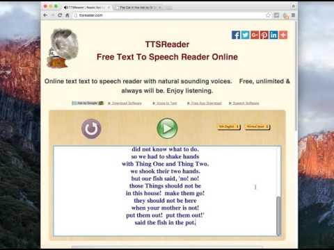 Free Online Text To Speech Reader Demo