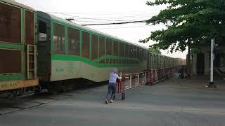 Freight train AH1 passing Bien Hoa City (2018)
