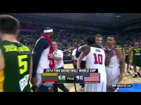 Fight after the game   USA vs Lithuania   September 11, 2014   Basketball   FIBA 2014