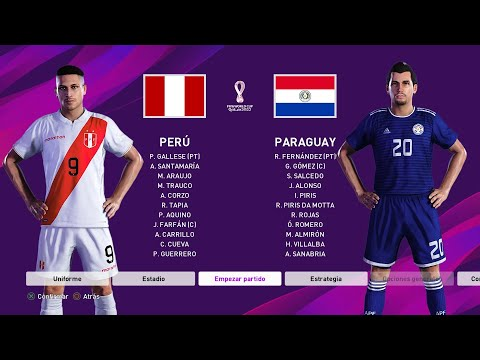Peru Vs Paraguay Eliminatorias Mundial Qatar 2022 Pes 2020 Youtube