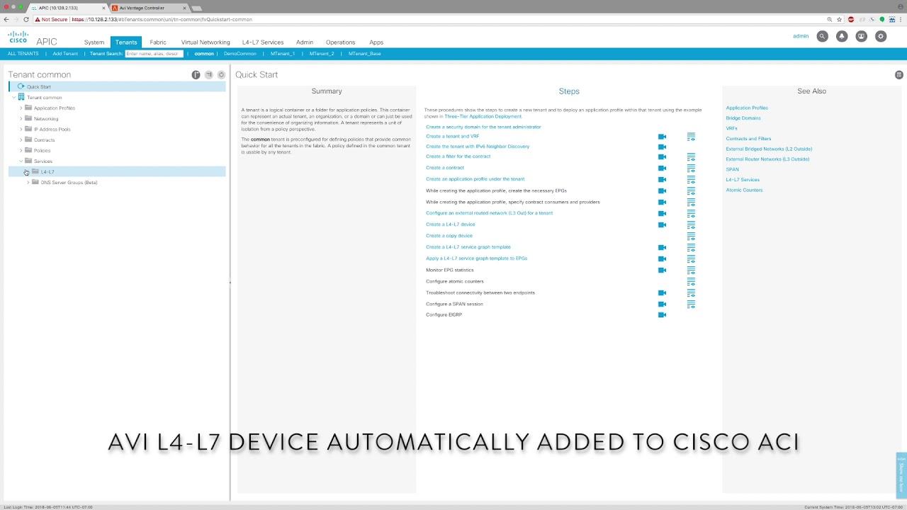 Avi Networks and Cisco ACI Integration