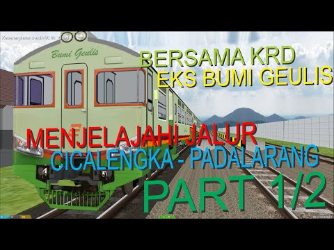 Bersama KRD Eks Bumi Geulis Menjelajahi Jalur Cicalengka - Padalarang (OpenBVE Indonesia) PART 1/2