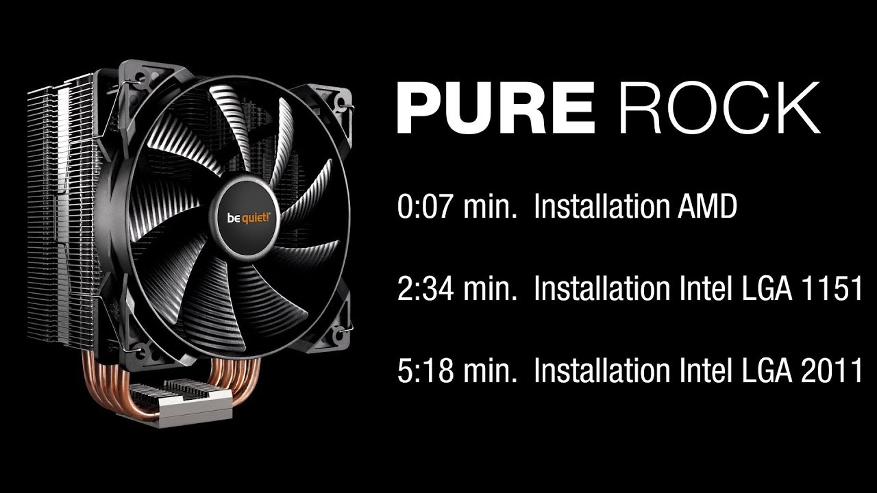 Installation Pure Rock Amd Intel Be Quiet Youtube