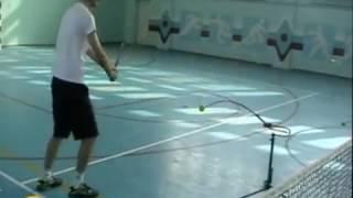 Теннисные тренажеры.. Удар слева (backhand) в теннисе