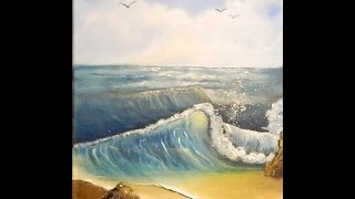 Seascape Art Part 2 - How to Paint a Beach and Sand in Oil Paints