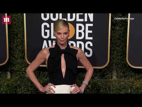 Black and Bright! Charlize Theron at the 2019 Golden Globes
