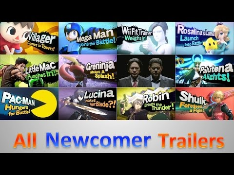 All Main Trailers - Super Smash Bros. For 3DS/Wii U (HD)