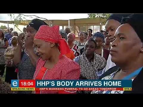 HHP's body arrives home