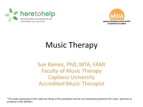 Music Therapy with Sue Baines, PhD, MTA, FAMI