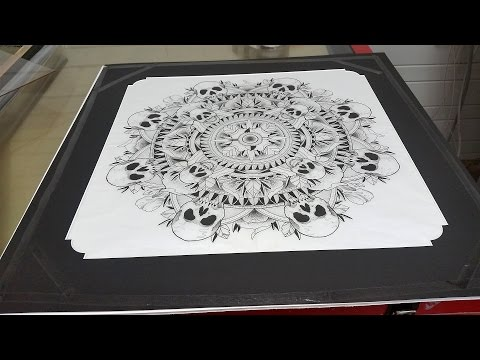 Framing a Tattoo Drawing By Blaze Ink Tatoos