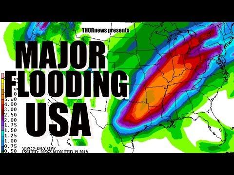 Danger! MAJOR River flooding to hit South & East USA over next 2 weeks