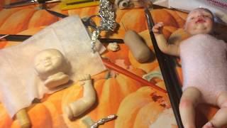 як зробити міні Реборн з глини
