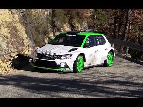 - Test Monte Carlo 2017 Skoda R5 Pontus Tidemand - Checkpoint Rallye -
