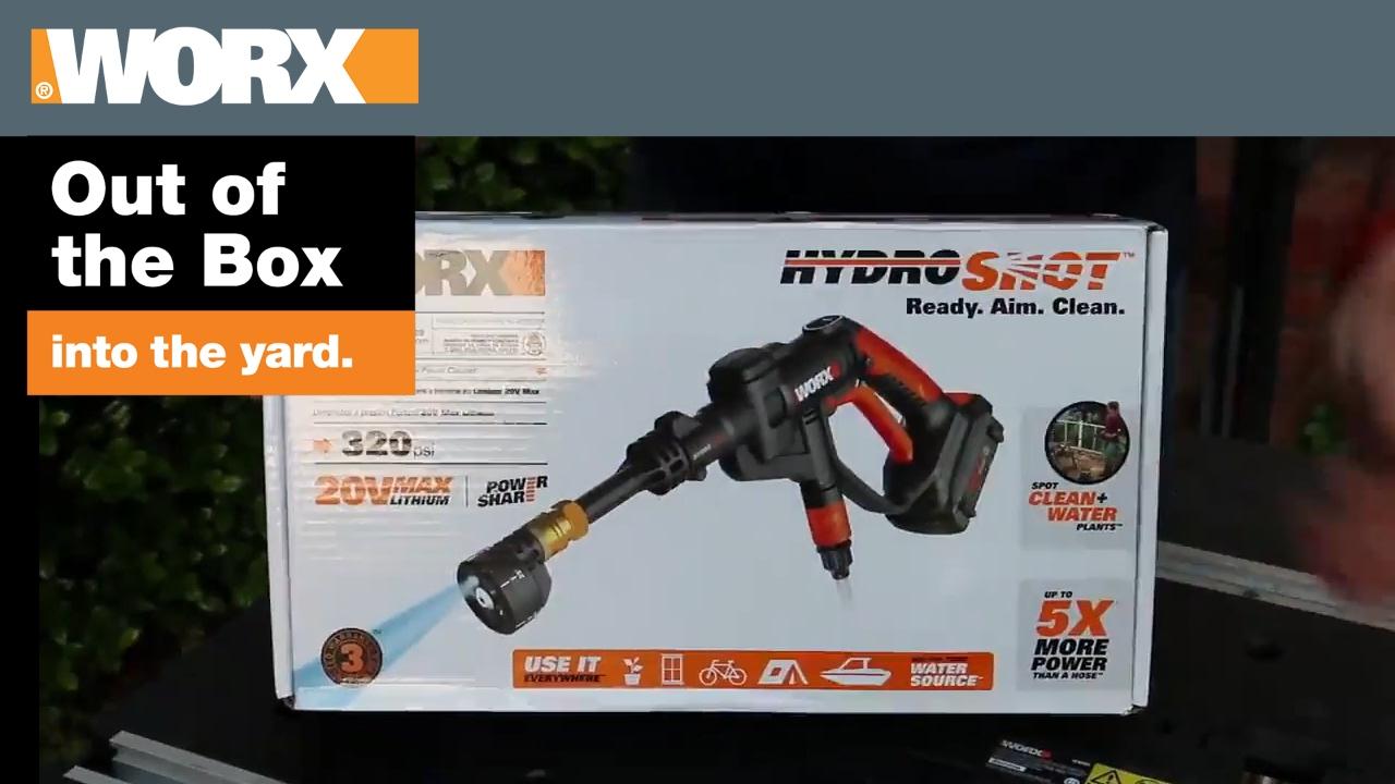 Worx hydroshot out of the box into the yard doovi - Worx espana ...