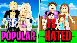 Popular Family vs Hated Family in Roblox BROOKHAVEN RP!!